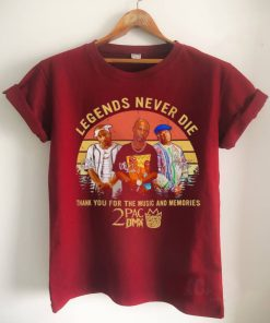 2Pac DMX Biggie Smalls legends never die thank You for the music and memories signatures vintage shirt