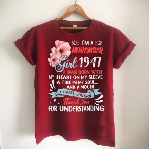 Official 74th Birthday Made In November 1947 Shirt 74 Years Old T Shirt
