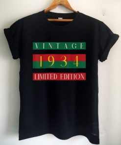 Official 88 Year Old Gifts Vintage 1934 Limited Edition 88th Birthday T Shirt