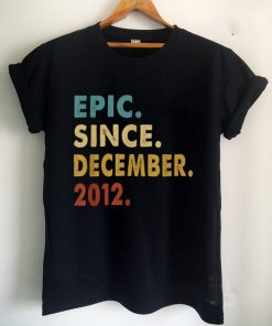 Official 9 Years Old Gifts Epic Since December 2012 9th Birthday T Shirt